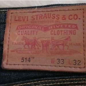 Levis 514 Dark Blue Denim Jeans